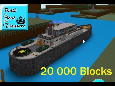 Boat Ideas For Build A Boat For Treasure Roblox Roblox Build A Boat For Treasure Big Boat 20000 Blocks Youtube
