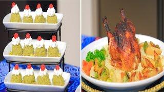 دجاج بالفرن - سلطة الدجاج بالخوخ - عدس بني بالارز البسمتي واللحم المفروم | حلو و حادق حلقة كاملة