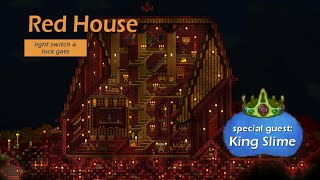 Red House - Terraria 3D Cabinet Projection - with lockgate & lightswitch ..and King Slime