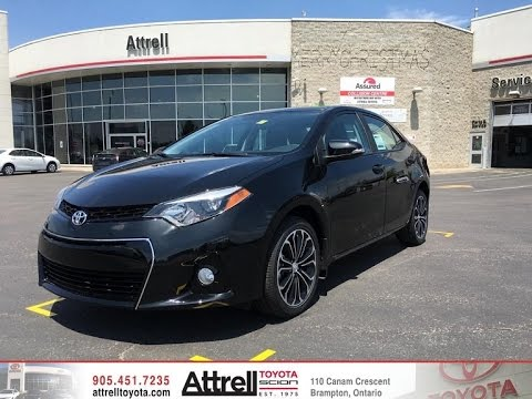 2016 Toyota Corolla S Technology Package Overview Brampton On