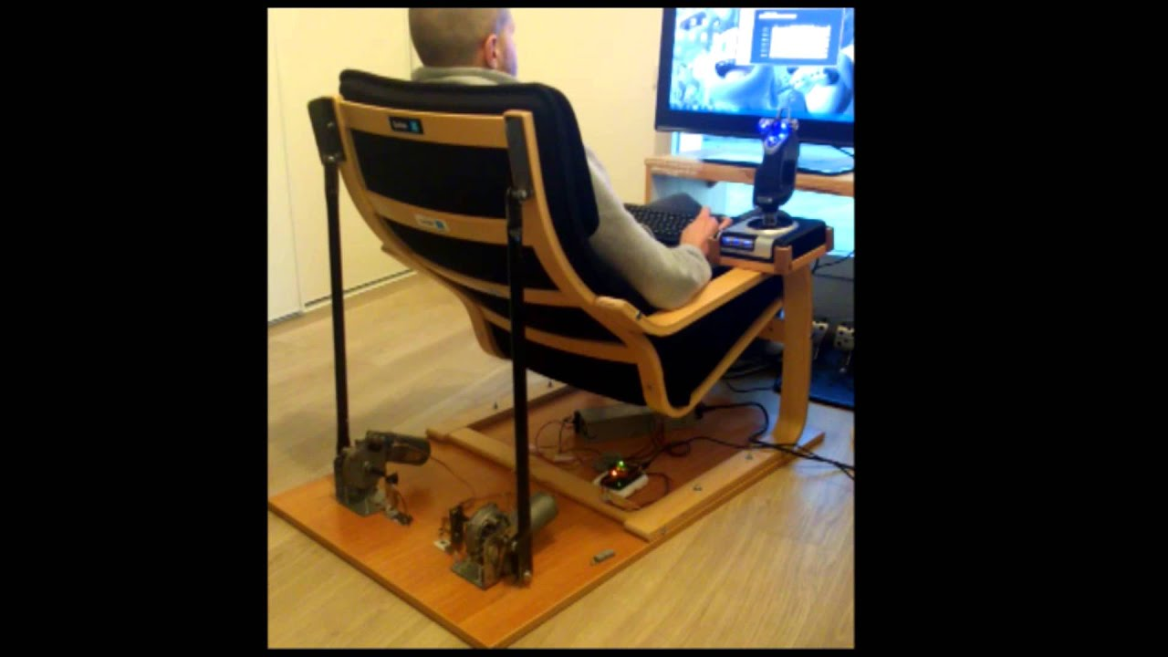 Hydraulic Racing Simulator Chair Black And White Chevron Bean Bag Diy Pvc Building A Flight Driving Sim Pit On