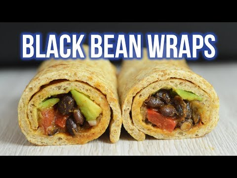 Black Bean Veggie Wrap