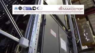 Грузовой лифт для складского мезонина(Грузовой лифт для вертикального перемещения грузов по мезонинному стеллажу. Стационарный складской подъе..., 2015-02-09T12:29:31.000Z)