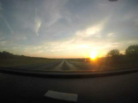 Time Lapse - Driving Into The Sunset