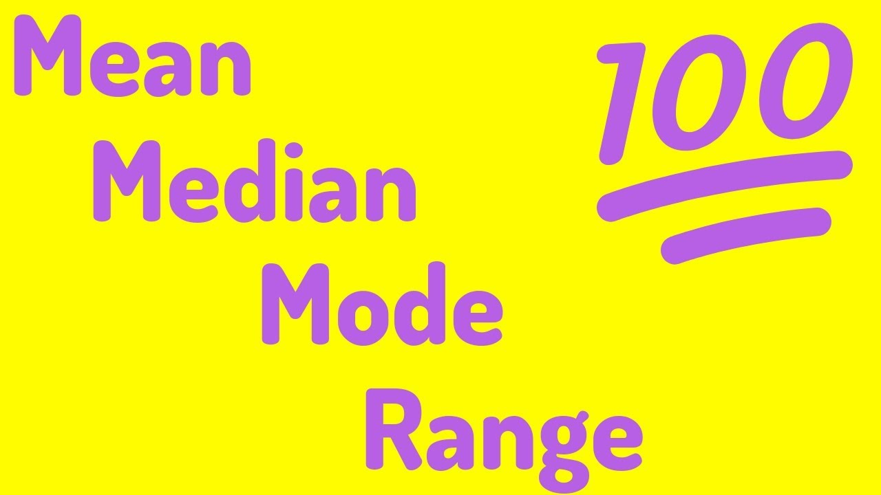 Download An Average Video | Mean, Median, Mode, and Range