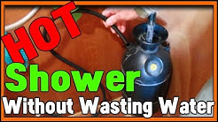Tiny Houses HOT Shower That WORKS!