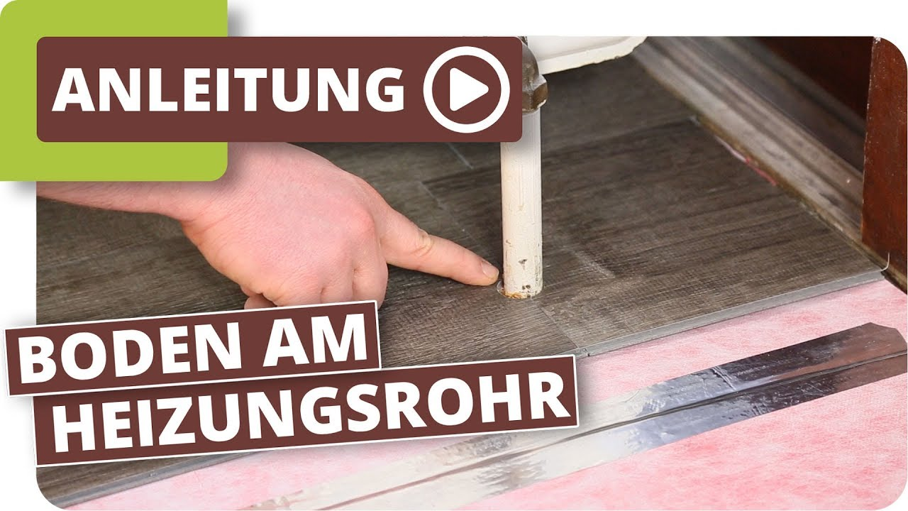 boden am heizungsrohr verlegen - youtube