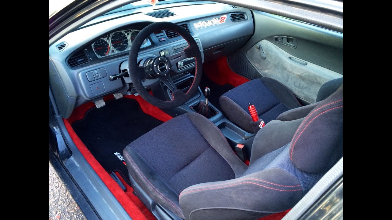 93 civic hatch interior update youtube for Honda civic 9 interieur