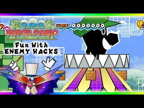 Super Paper Mario- Fun With Enemy Hacks