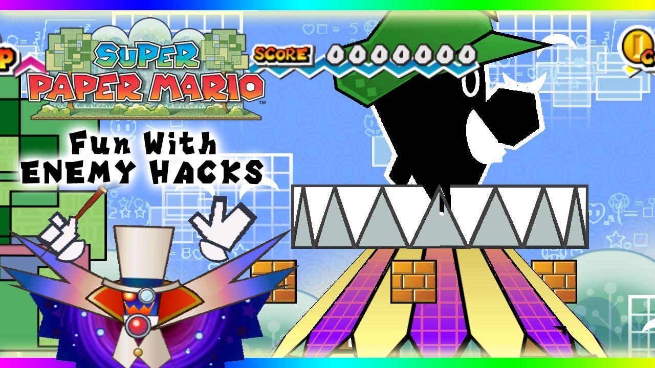 Super Paper Mario Fun With Enemy Hacks Youtube