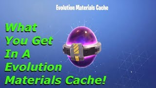 Fortnite - What You Get In A Evolution Materials Cache!