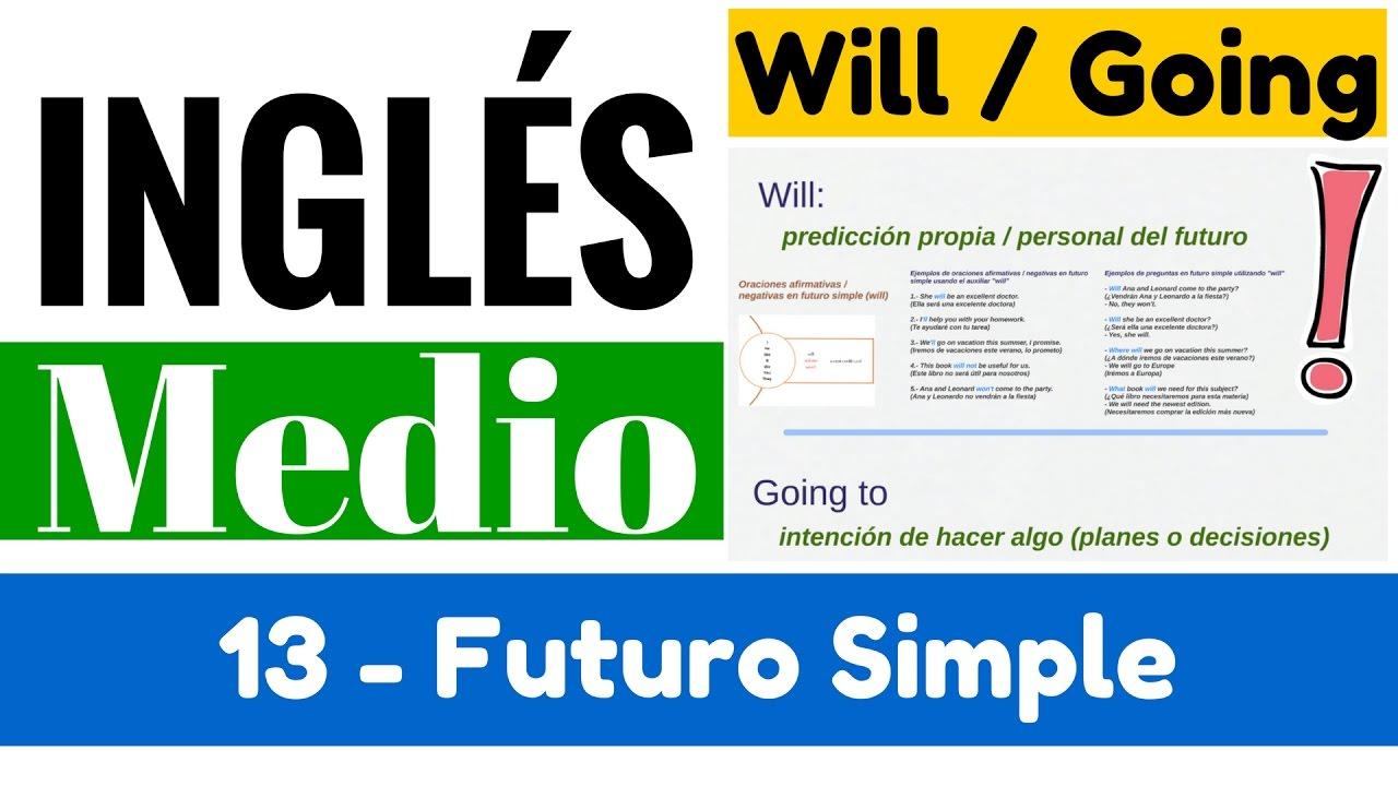 Futuro Simple En Inglés Uso De Auxiliar Will Y Forma Going To Yes En Inglés 2 Video 13