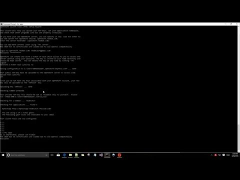 S01E02 - Intsall and configuring client tools to replace default webpage provided by openshift