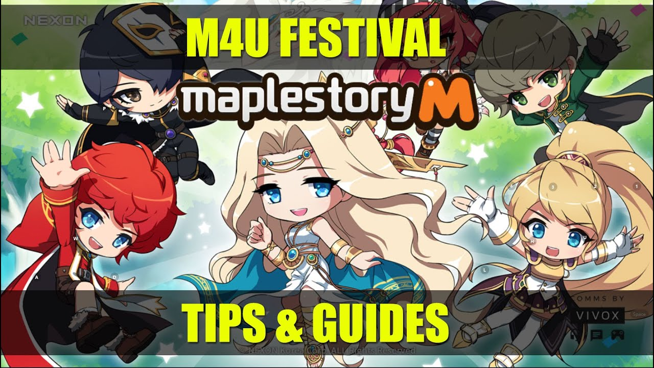Maplestory m - M4U festival Tips and Guide April Latest Event Update
