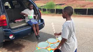 Drumline : 10 & 12 year old Drumming Brothers on Xymox snare and tenor pads! thumbnail
