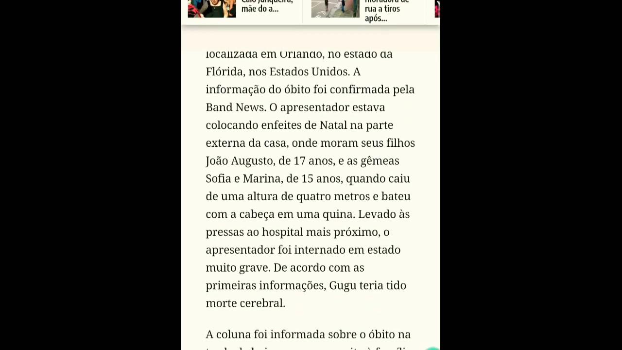 Gugu Liberato Apresentador morre ao 60 Anos Não e fake news