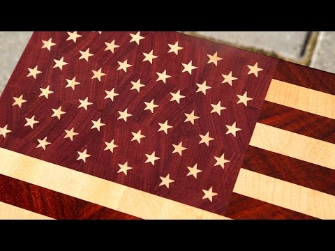 Another way of making stars on the US flag end grain