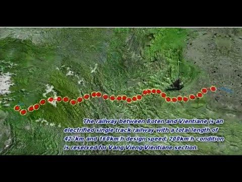 China-Laos Railway Route