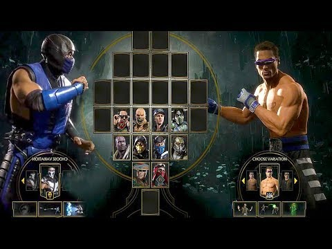 MORTAL KOMBAT  - Johnny Cage All Intros Fatality, Fatal Blow Gameplay (MK)