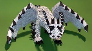 МОДУЛЬНОЕ ОРИГАМИ дракон из бумаги