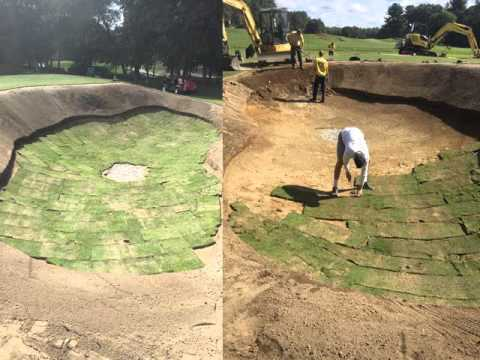Whitinsville GC Holes 2 and 5 Construction