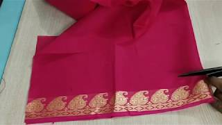Very easy and so simple blouse back neck design cutting and stitching /blouse designs