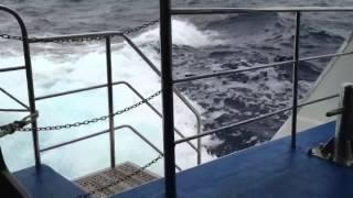 Rough ride on catamaran