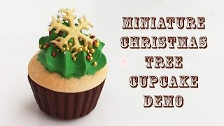 Christmas tree cupcake - Watch me - Polymer Clay Demo