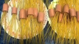 Как приготовить спагетти  Оригинальный рецепт спагетти с сосисками