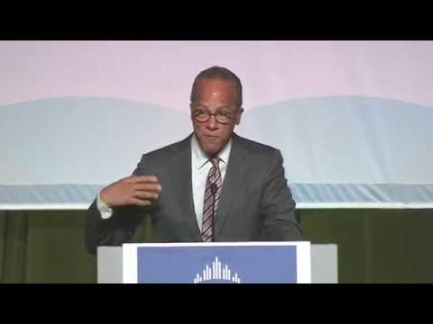 Lester Holt at the 2015 Annual Meeting of the Greater Philad