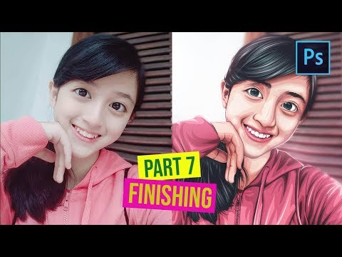 [ Photoshop Tutorial ] How to Cartoonize a Picture in Photoshop - (PART 7 FINISHING) thumbnail