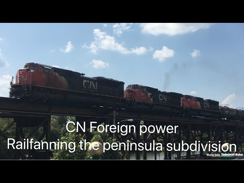 Railfanning the peninsula subdivision in...