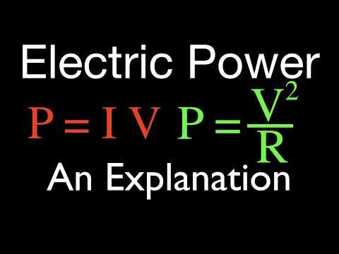 Electric Power (1 of 3) and Watts, An Explanation