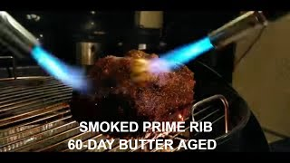Smoked Prime Rib 60-Day Butter Aged Roast Cherry Wood How-To Champion Harry Soo SlapYoDaddyBBQ.com
