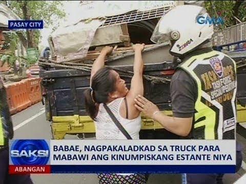 Saksi: Babae, nagpakaladkad sa truck para mabawi ang kinumpiskang estante niya