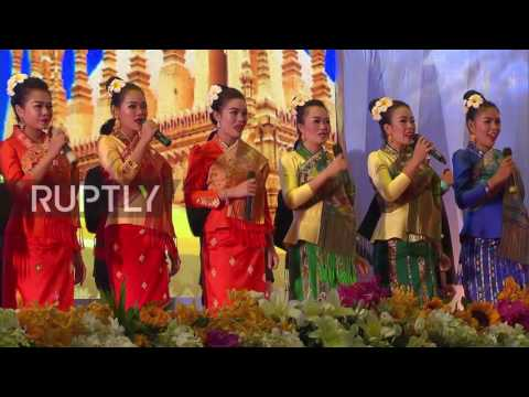 Laos: Medvedev joins world leaders at reception ahead of East Asia Summit