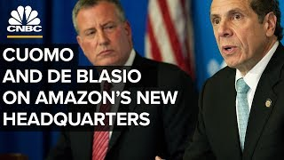 LIVE: Mayor de Blasio and Governor Cuomo discuss Amazon's new headquarters in NYC