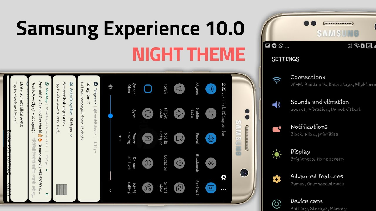 Samsung Experience 10 0 UI Theme For Oreo/ Nougat Devices 2018