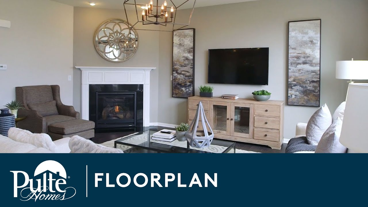 New homes by pulte homes mercer floorplan youtube for Pictures of model homes inside