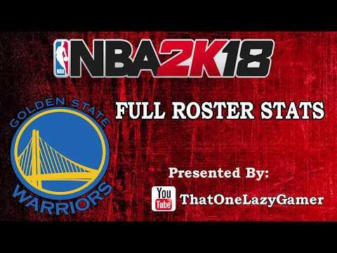 """NBA 2K18 Full Roster Stats """"Golden State Warriors"""""""