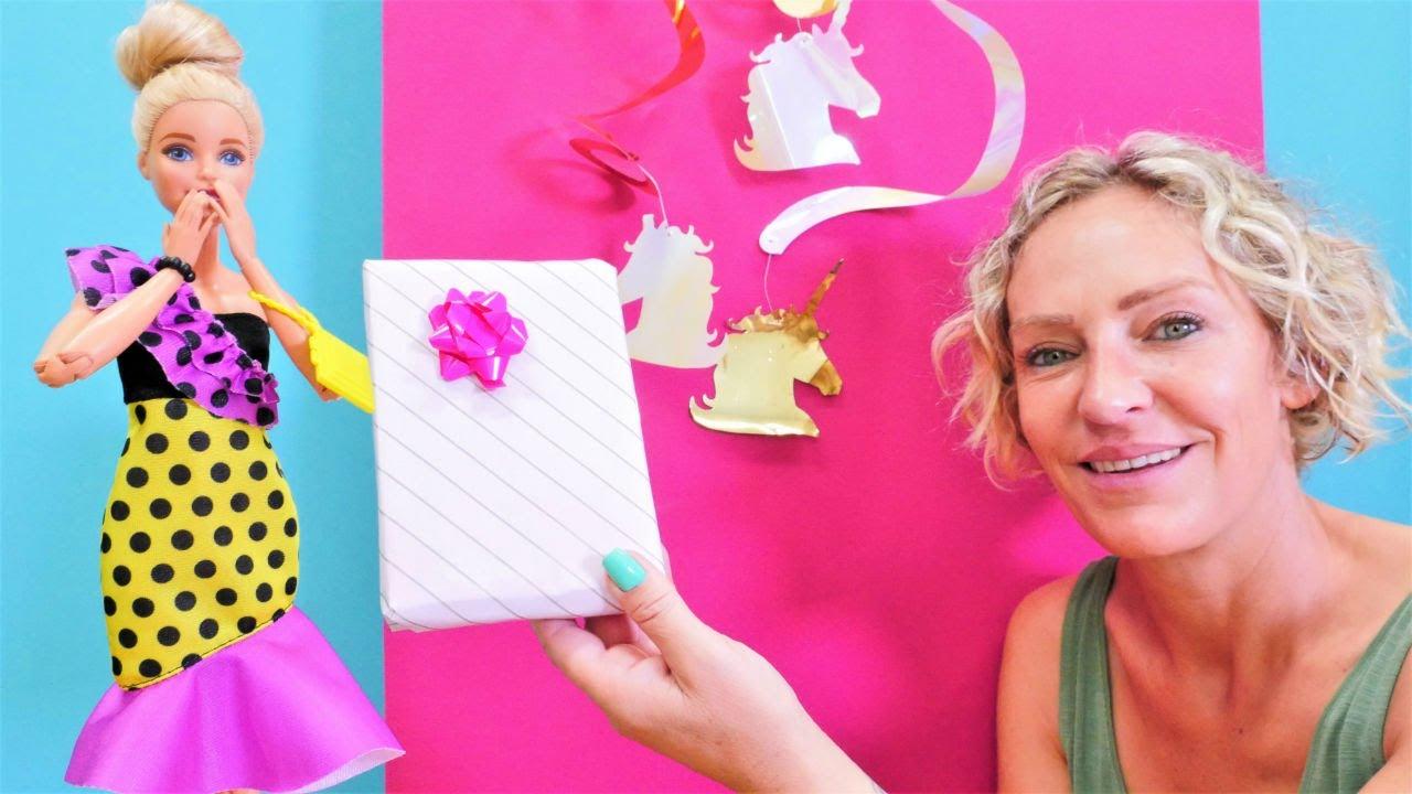 Barbie'nin doğum günü! Nicole sürpriz parti hazırlıyor. Eğlenceli video