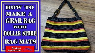 How To Make A DIY Handbag From Dollar Store Rugs