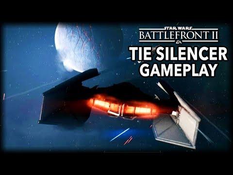 Kylo Ren's Tie Silencer Gameplay - Star Wars Battlefront 2
