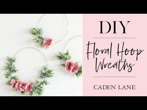 Ella's Floral Hoop Wreath DIY