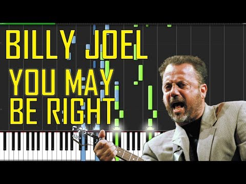 Billy Joel - You May Be Right Piano Tutorial - Chords - How To Play - Cover