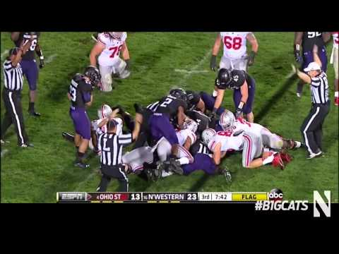Northwestern Football vs Ohio State Highlights