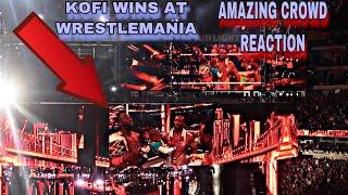 Kofi Kingston Beats Daniel Bryan At Wrestlemania 35 Live CROWD REACTION! KofiMania