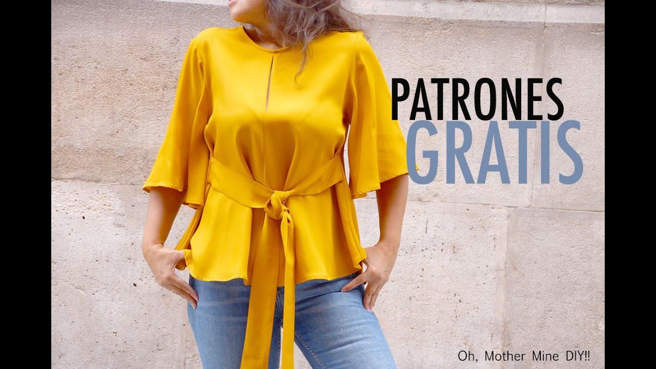 Patrones De Costura Blusa Para Mujer Gratis En Varias Tallas Youtube