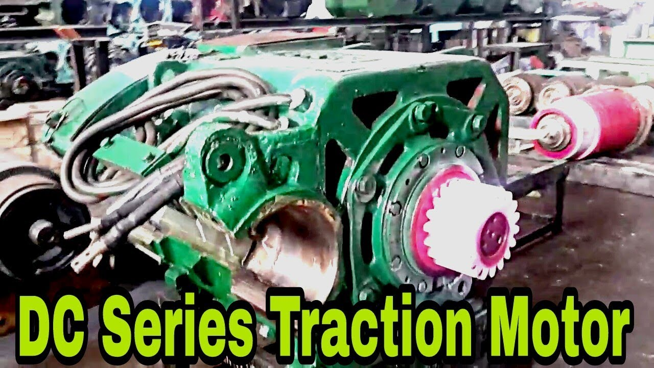 Dc series traction motor of alco locomotives youtube for What is traction motor