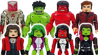 Marvel Avengers the best couples gathered! Red She-Hulk, Scarlet Witch!   DuDuPopTOY